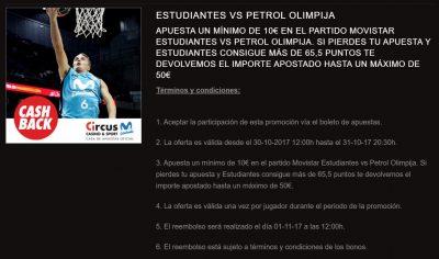 Circus, bookie oficial Movistar Estudiantes