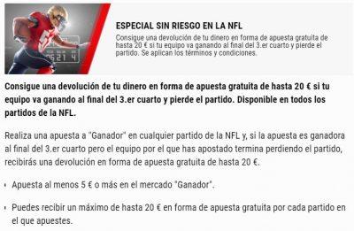 Promoción NFL BetStars