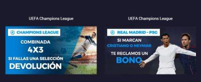 Promociones  de apuestas para la Champions League en Pastón.es