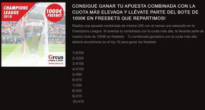 Promociones Circus para la Champions League