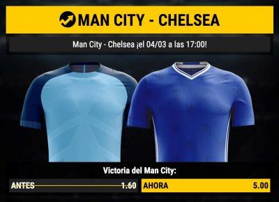Cuotas mejoradas Manchester City Chelsea