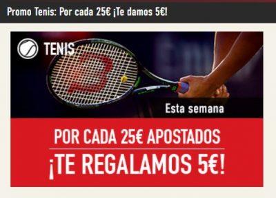 Apuestas gratis con la promoción de tenis de Sportium