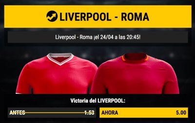 Apuestas para el Liverpool - Roma
