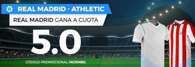 Mejores cuotas Real Madrid - Athletic en Pastón.es