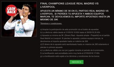 Apuestas Real Madrid - Liverpool