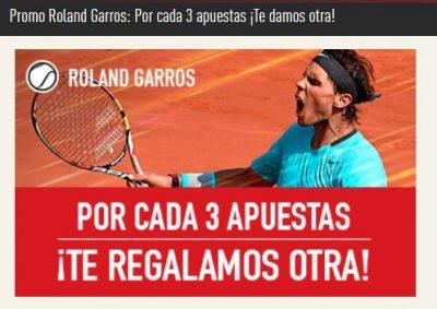 Apuestas Roland Garros - Promoción Sportium