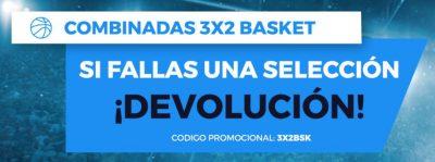 Apuestas baloncesto - Promo de combinadas en Pastón.es