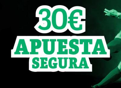 Llévate hasta 30€ en apuesta segura con PAF