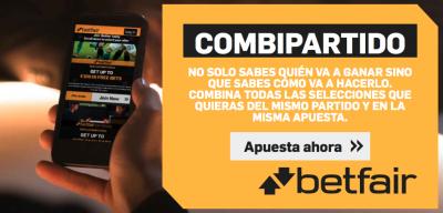 Combipartido Betfair, nueva opción de apuestas Betfair