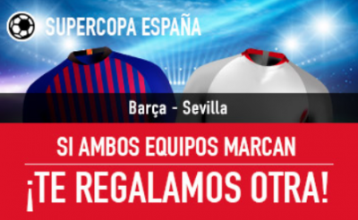 Apuestas Barça - Sevilla de Supercopa, promo Sportium