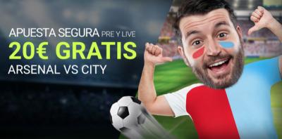 Apuesta segura para el Arsenal - Manchester City, en Luckia