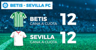 Megacuota doble en Pastón para tus apuestas Betis - Sevilla
