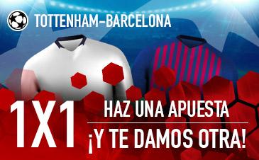 Haz tus apuestas Tottenham - Barcelona en Sportium ¡Sin riesgo!