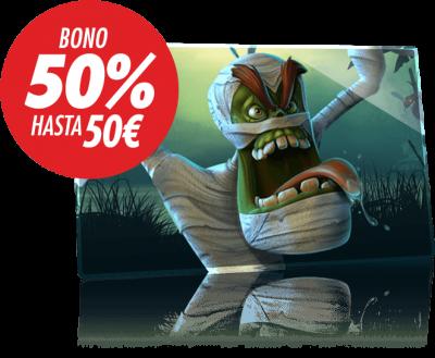 Descubre el Bono Halloween Circus, 50% extra con tu depósito