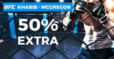 50% extra en Pastón para tus apuestas UFC - Khabib vs McGregor