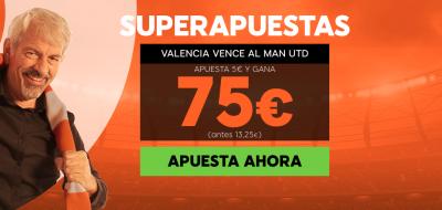 Superapuestas 888sport para el Valencia - Manchester United