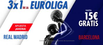Promo Suertia para tus apuestas Real Madrid - Barça Euroliga