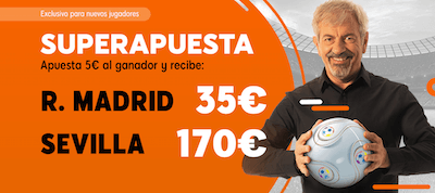 Promo Superapuestas de 888sports Real Madrid Sevilla