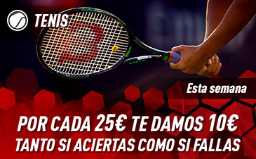 Llévate 40€ con tus apuestas de tenis en Sportium