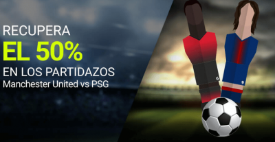 Apuestas Manchester-PSG con seguro - Promociones Luckia