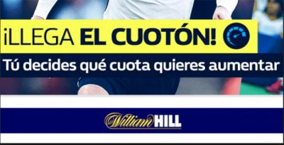 cuotas mejoradas William Hill - cuoton