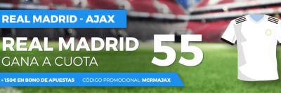Cuotas Real Madrid - Ajax: Megacuota Paston