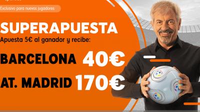 Superapuesta de 888sport, la mejor cuota para apostar al Barcelona - Atletico de Madrid