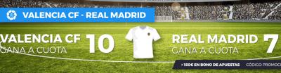 Valencia - Real Madrid, cuotas dobles mejoradas de Pastón