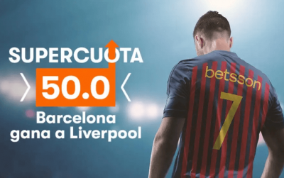Promo de Betsson en las cuotas de apuestas del Liverpool - Barcelona
