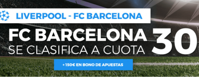 Promo Paston de cuotas mejoradas en el Liverpool - Barcelona