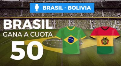 Megacuota Pastón en las cuotas de Brasil frente a Bolivia en Copa America 2019