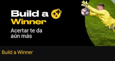Build a Winner, promo de Bwin con la opción Construye tu apuesta
