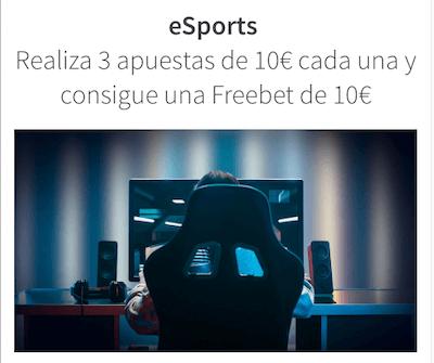 Promociones de Betsson: Frebets todas las semanas al apostar en eSports