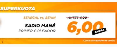 Superkuota kirolbet en las apuestas al Senegal vs Benin