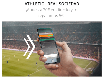 Promo apuestas Betsson - apuestas en directo Athletic vs Real Sociedad