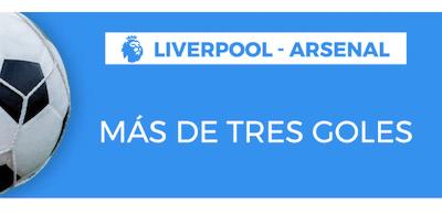 Promo Pastón para doblar ganancias en apuestas al Liverpool - Arsenal