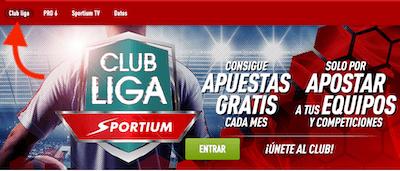 Promo Club Liga de Sportium - Gana apostando por tu equipo