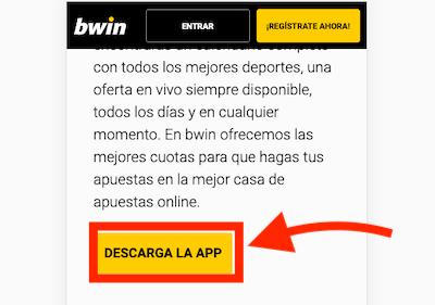 Descargar la app de bwin en movil android