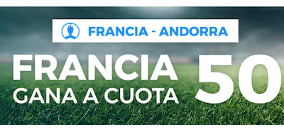 Promo de Paston en las cuotas del Francia - Andorra