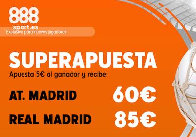 Superapuesta de 888sport en las cuotas del derbi atletico real madrid