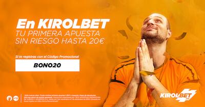 Bono bienvenida Kirolbet - Código promocional BONO20