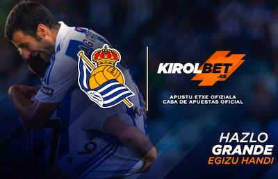 Kirolbet, patrocinador de equipo de futbol Real Sociedad