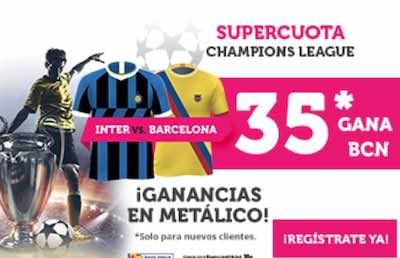 Supercuota Wanabet, la mejor cuota al Inter vs Barça