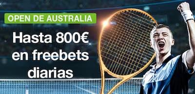 Promo Codere, hasta 800 euros freebets diarias con las apuestas al open de Australia