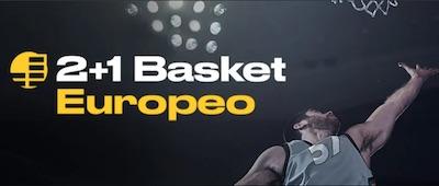 Promo 2+1 en apuestas a la Euroliga de baloncesto en Bwin