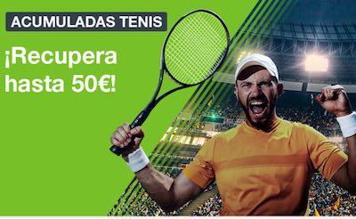 Promoción de apuestas acumuladas de tenis en Codere