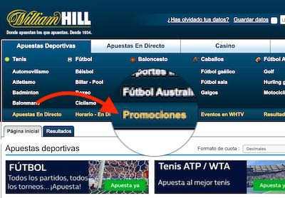Promociones de apuestas deportivas en William Hill