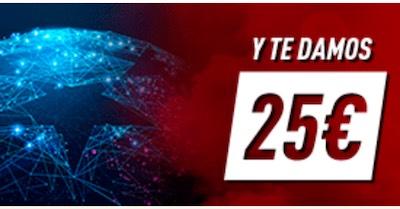 Promo Sportium en las apuestas a la Champions 2020: Juegas 5, te llevas 25 euros en apuestas gratis.