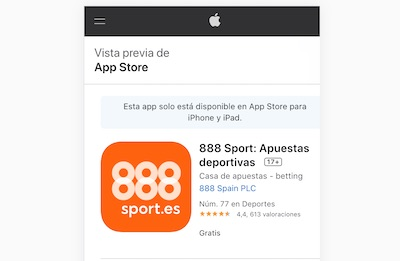 888sport, como descargar la app en dispositivos  iOS