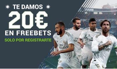 20€ en freebets con tus apuestas al Real Madrid vs Mallorca en Codere